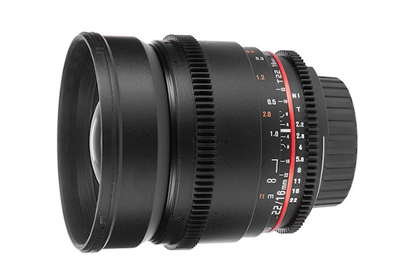 Samyang 16mm T2.2 | EF mount | £15 per day