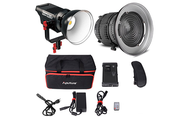 Aputure 120d | 6000K LED | 0-100% dimmable | Mains or V-Lock powered | Remote controller | Bowens mount | £40 per day