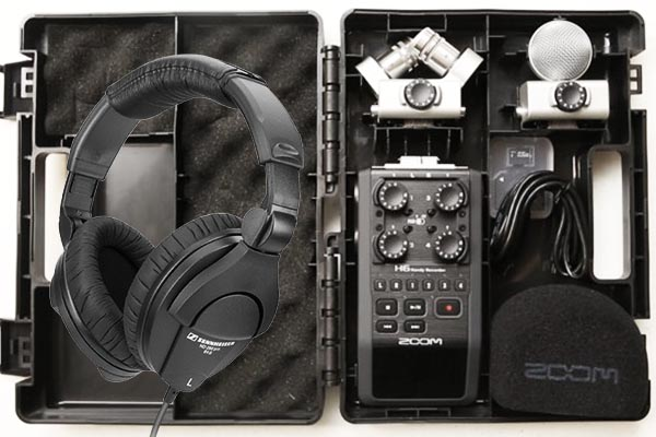 Zoom H6 Portable Audio Field Recorder | XY mic | 4x XLR inputs |  Sennheiser Headphones | SD cards | £30 + VAT per day
